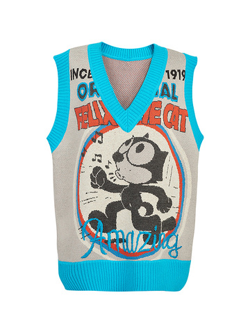 Jacquard Design Knit Vest