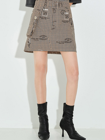 Checkered Print Skirt