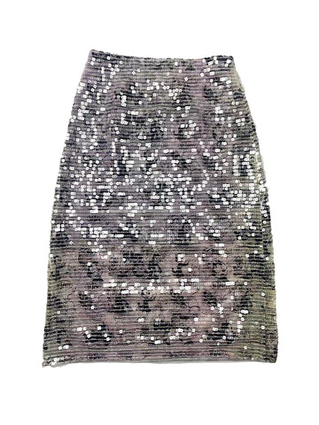 Printed Square Sequins Skirt