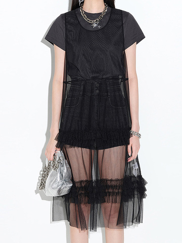 Tulle Design One-Piece