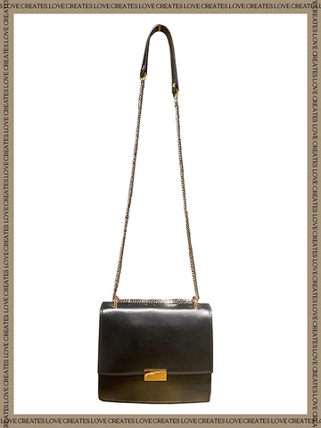 Chain Strap Leather Bag