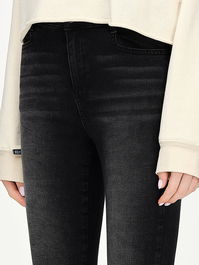 Skinny Black Denim Pants