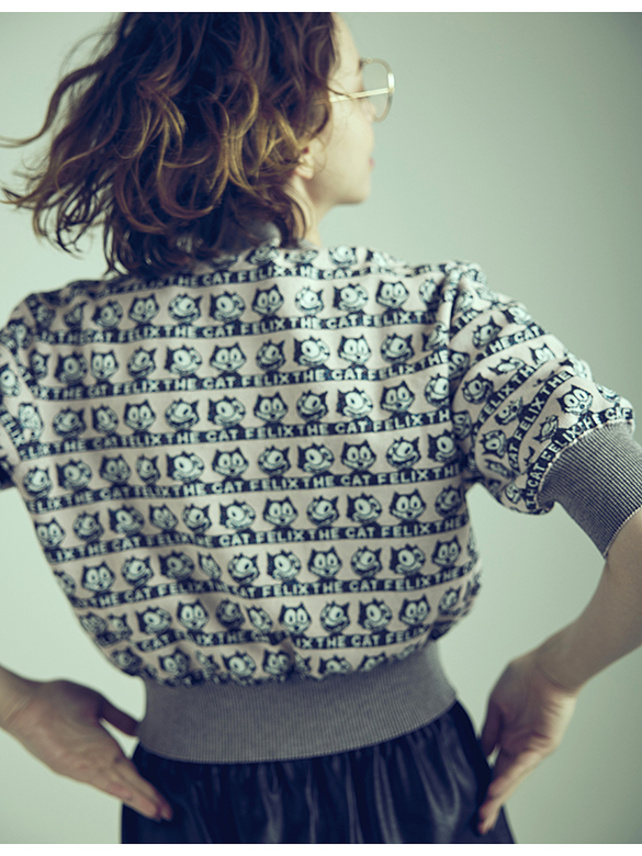 Pattern Design Knit Top