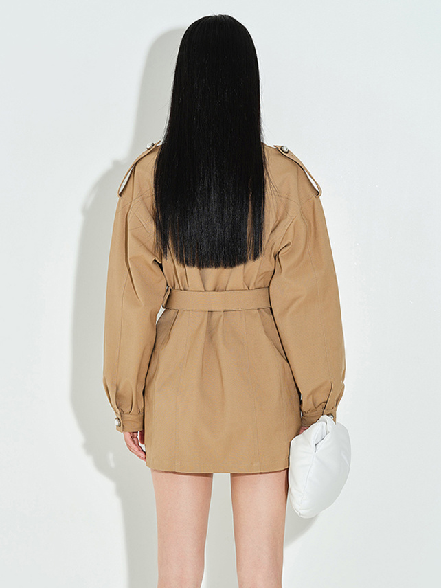 Pearl Design Trench Coat