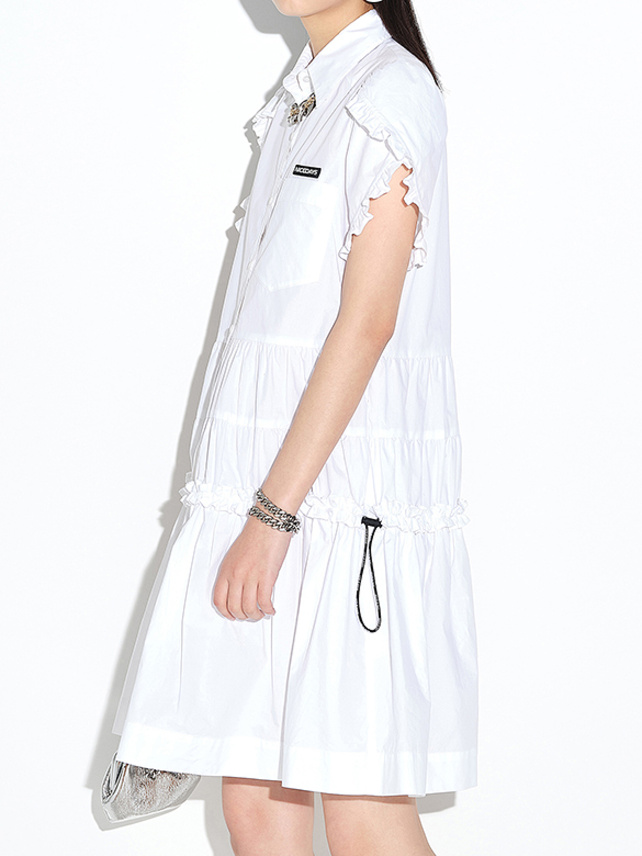 Tiered Shirt One-Piece