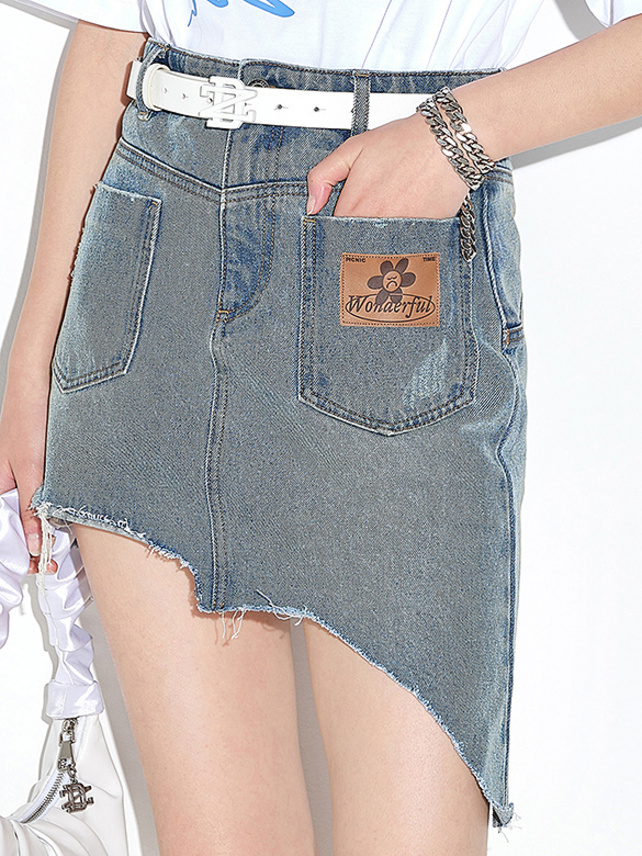 Byers Cut Denim Skirt